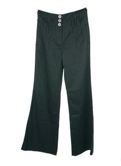 double one peace pantalons femme de couleur noir