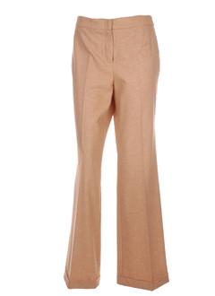 laura lindor pantalons femme de couleur beige