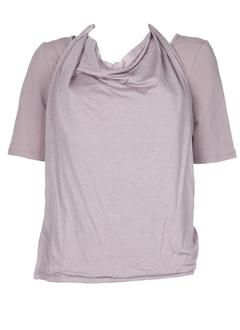 lino factory t-shirts femme de couleur vieux rose