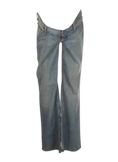 Jeans coupe large bleu fonce HABITUAL pour femme