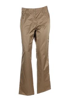 luisa cerano pantalons femme de couleur or