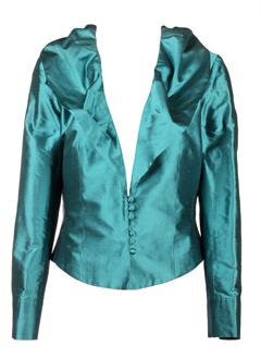 christie de la rue vestes femme de couleur turquoise