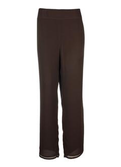 Pantalon chic marron NOMINAL pour femme