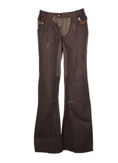 grazia pi pantalons femme de couleur taupe