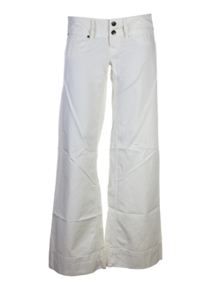fornarina pantalons femme de couleur ecru