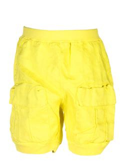 taille 0 pantacourts fille de couleur jaune