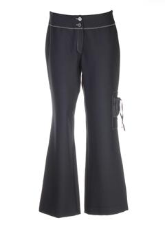 coco menthe pantalons femme de couleur noir