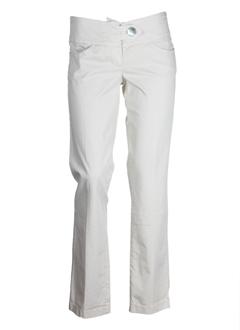 european culture pantalons femme de couleur beige