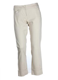 sportmax pantacourts femme de couleur beige