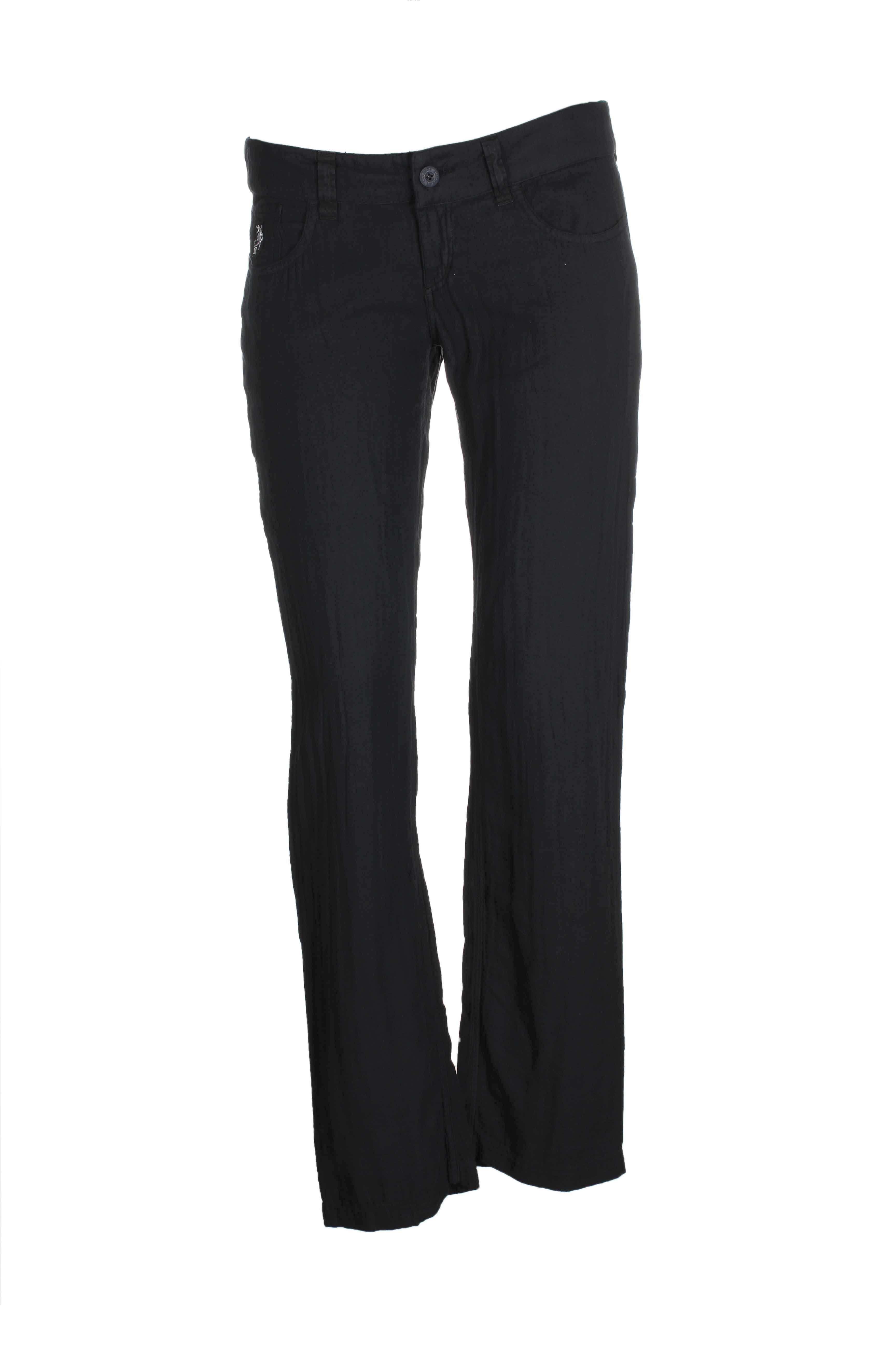 european culture pantalons femme de couleur noir