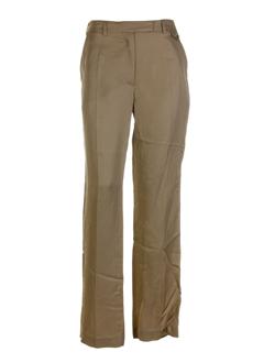 ikks pantalons femme de couleur camel