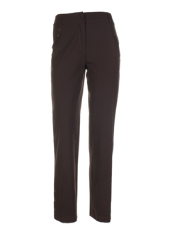my way pantalons femme de couleur marron