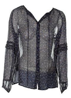 0039 italy chemises femme de couleur bleu fonce