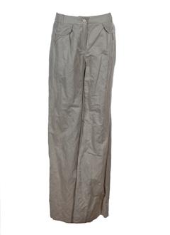 maxmara pantalons femme de couleur ecru