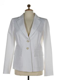 sportmax vestes femme de couleur blanc casse