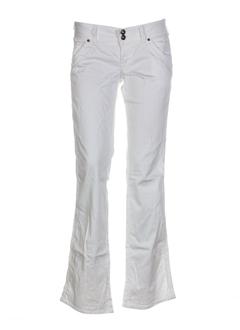 guess jeans pantalons femme de couleur blanc