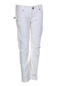 guess jeans pantacourts femme de couleur blanc
