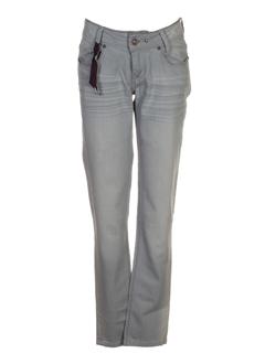 ddp pantalons fille de couleur gris perle