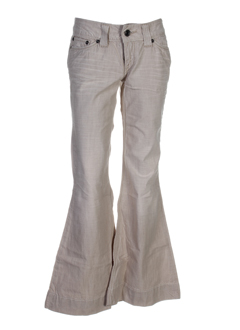 teddy smith pantalons fille de couleur beige