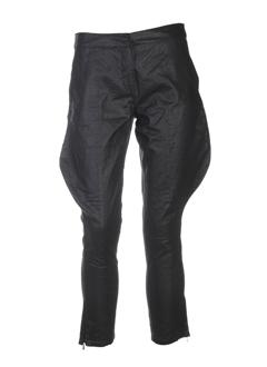 april 77 pantalons femme de couleur noir
