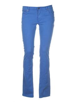 jon kafe pantalons femme de couleur bleu