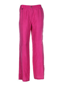 apriori pantalons femme de couleur fuschia