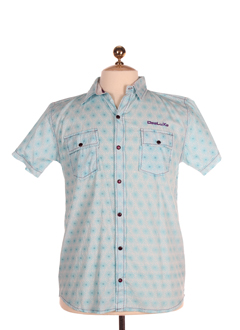 deeluxe chemises homme de couleur bleu ciel