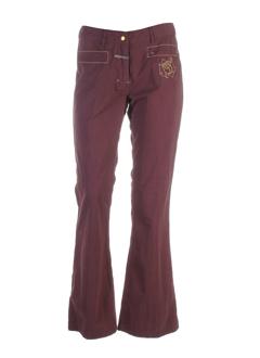 gotcha pantalons femme de couleur aubergine