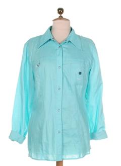 diana gallesi chemises femme de couleur turquoise