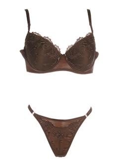 lizetta lingerie femme de couleur chocolat