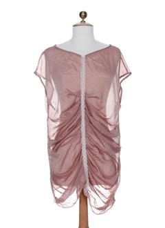 gene chemises femme de couleur rose