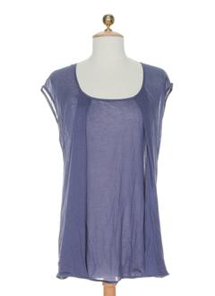 gene chemises femme de couleur bleu
