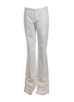 atsuro tayama pantalons femme de couleur creme