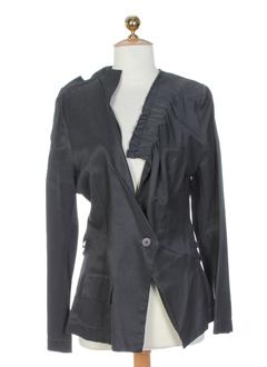 leïko vestes femme de couleur gris acier