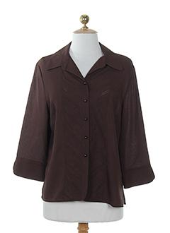 prunelle chemises femme de couleur chocolat