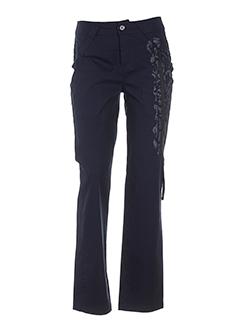 carole richard pantalons femme de couleur bleu fonce