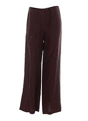 Pantalon chic chocolat ANA NONZA pour femme seconde vue
