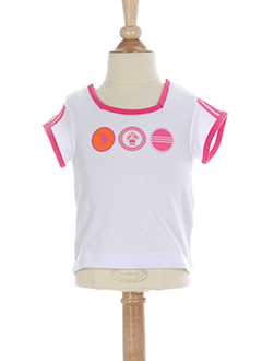 adidas t-shirts fille de couleur blanc