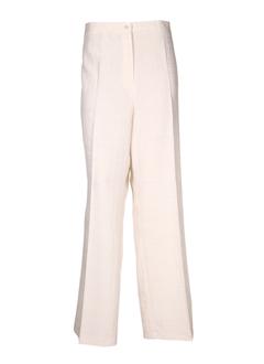 devernois pantalons femme de couleur ecru