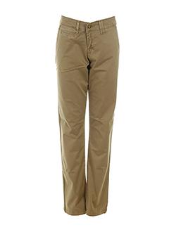 cirrone jeans pantalons femme de couleur marron clair