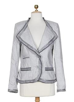 helena sorel vestes femme de couleur gris clair