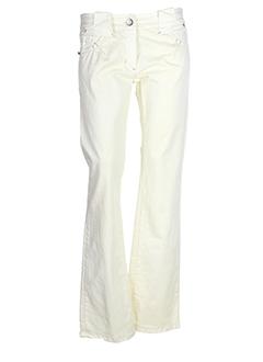 sportmax pantalons femme de couleur ivoire