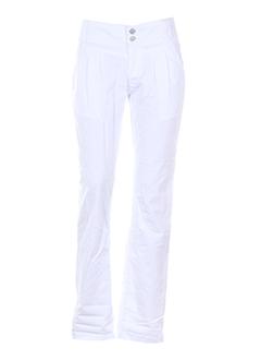 geisha pantalons et decontractes femme de couleur blanc