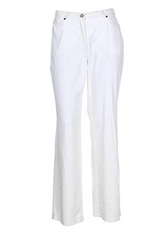 frank et eden pantalons et decontractes femme de couleur blanc