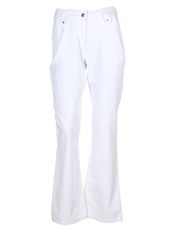 royal mer bretagne pantalons femme de couleur blanc
