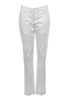 fairly pantalons femme de couleur blanc