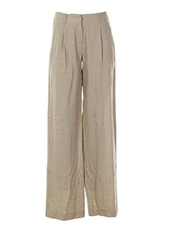 niu pantalons femme de couleur beige