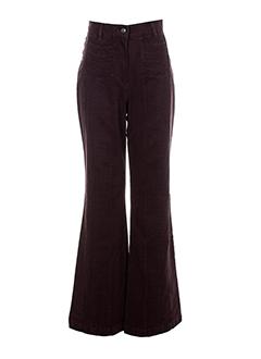 gina b heidemann pantalons femme de couleur violet fonce
