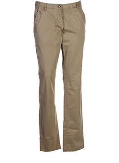 tom tailor pantalons femme de couleur beige fonce