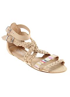 maloles sandales et nu et pieds femme de couleur beige